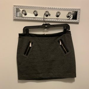 NWT Express Leather trim grey skirt size 6